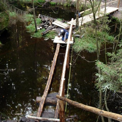 Povalový chodník, Vlčí rokle - Adršpašsko-teplické skály, rekonstrukce