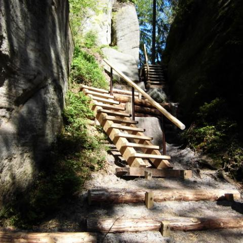 Povalový chodník, Vlčí rokle - Adršpašsko-teplické skály, rekonstrukce 5