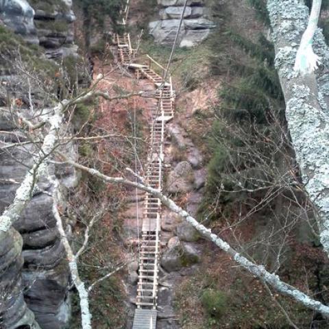 Dřevěné žebříky - Bichofštěin