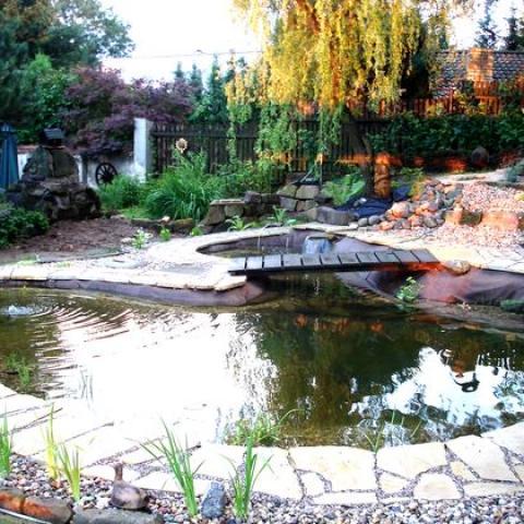 Zahradní úpravy - výstavba jezírka - Udrnice