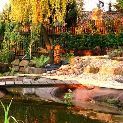 Zahradní úprava - výstavba jezírka - Udrnice 2